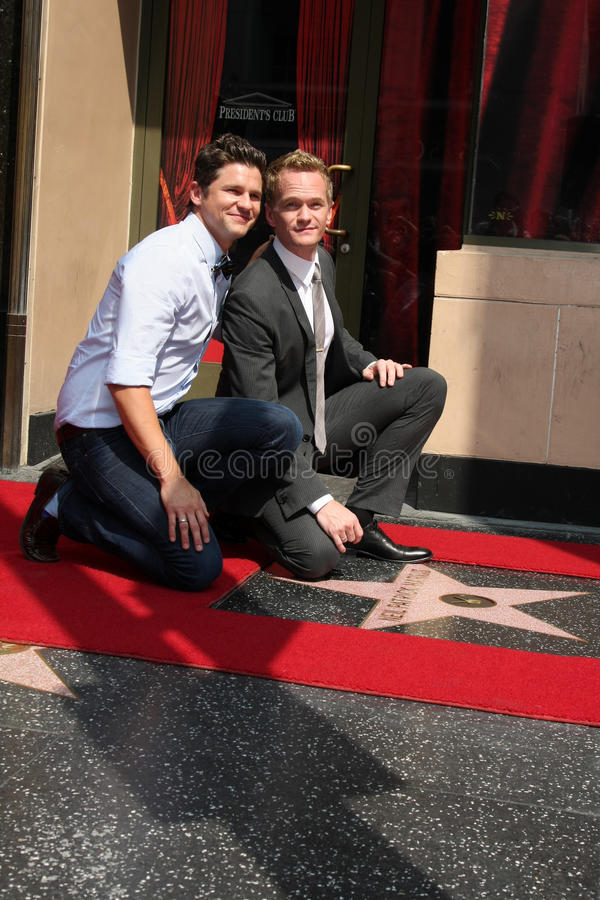 David Burtka, Neil Patrick Harris stock afbeeldingen