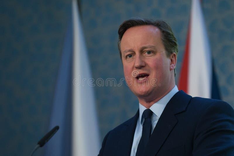 David Cameron royaltyfria foton