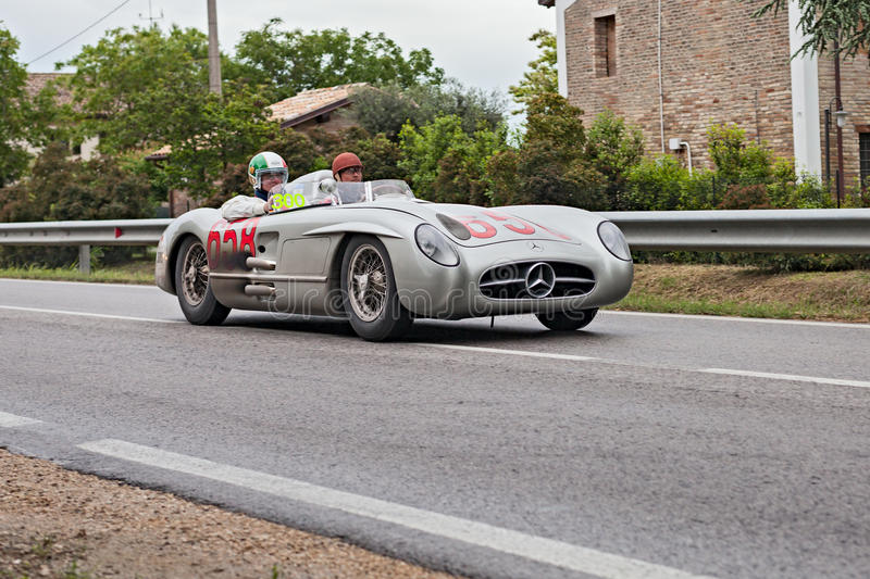 David Coulthard in Mille Miglia 2013 royalty free stock images