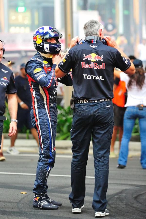 David Coulthard que remove seu capacete após uma movimentação imagem de stock royalty free