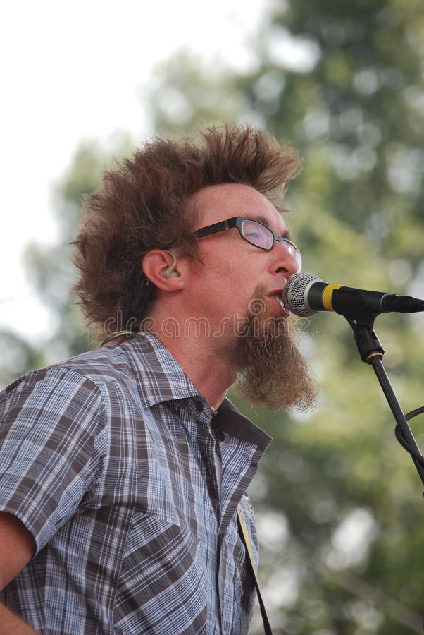 David Crowder Band at The World Pulse Festival stock image