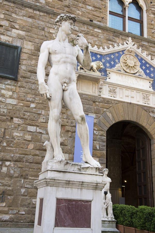 David dans le della Signoria de Piazza Florence images libres de droits