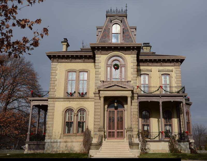 The David Davis House. This is a picture of the David Davis House located in Bloomington, Illinois. The house was designed by Alfred H. Pique are, is an example royalty free stock image