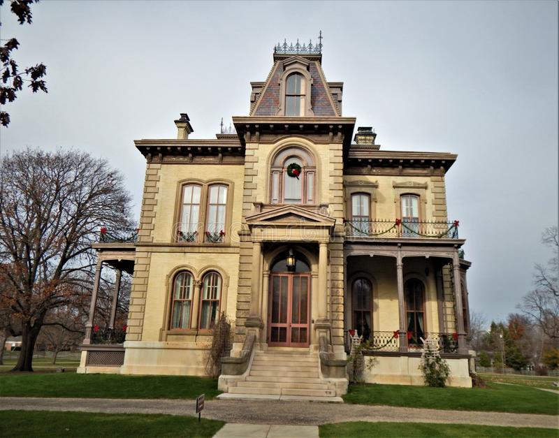 David Davis Mansion Bloomington Illinois Front Entry royalty free stock image