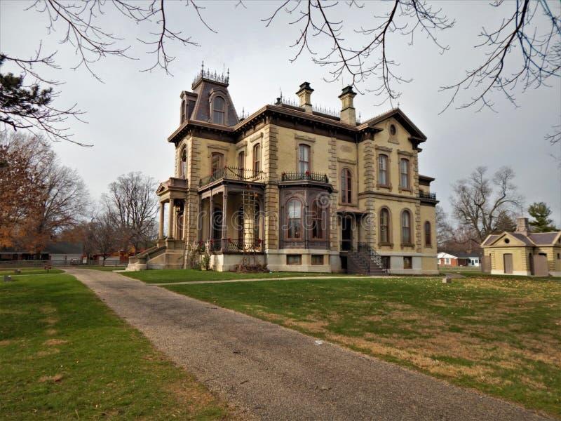 David Davis Mansion Bloomington Illinois imagens de stock