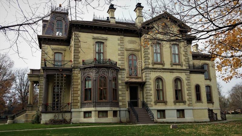 David Davis Mansion Bloomington Illinois fotos de stock royalty free