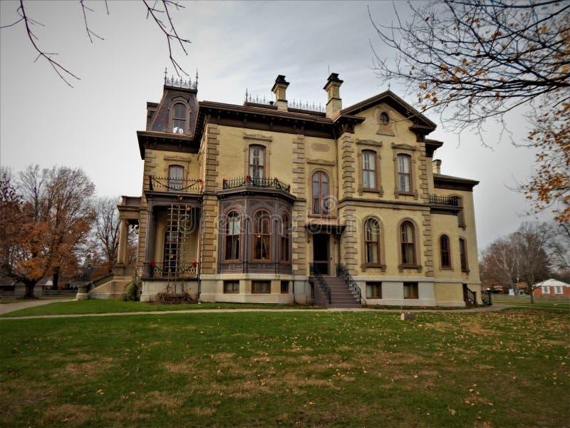 David Davis Mansion Bloomington Illinois Side foto de stock