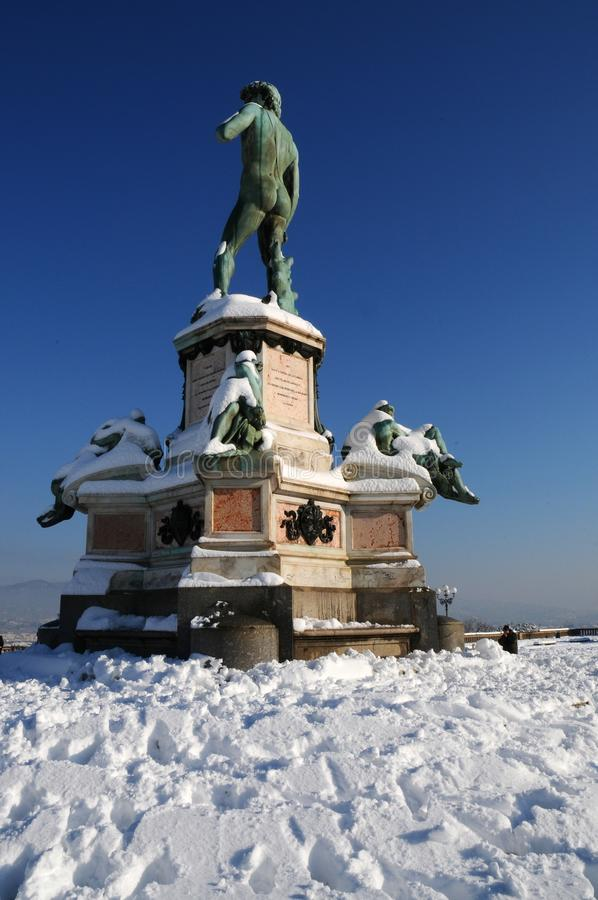 David di Michelangelo in Piazzale Michelangelo in Florence stock afbeelding