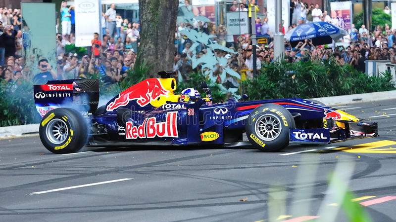 Download David Doing Donuts In Red Bull Racing F1 Car Editorial Photography - Image: 19362947