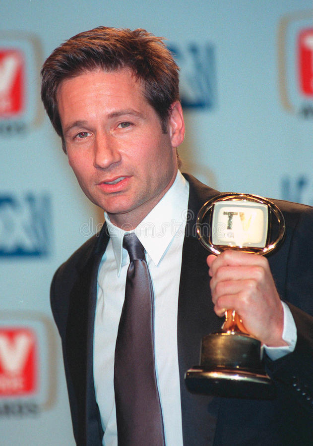 David Duchovny. 01FEB99: 'X-Files' star DAVID DUCHOVNY at the 1st Annual TV Guide Awards in Los Angeles. He show won for Favorite Actor in a Drama Series. Paul stock photography