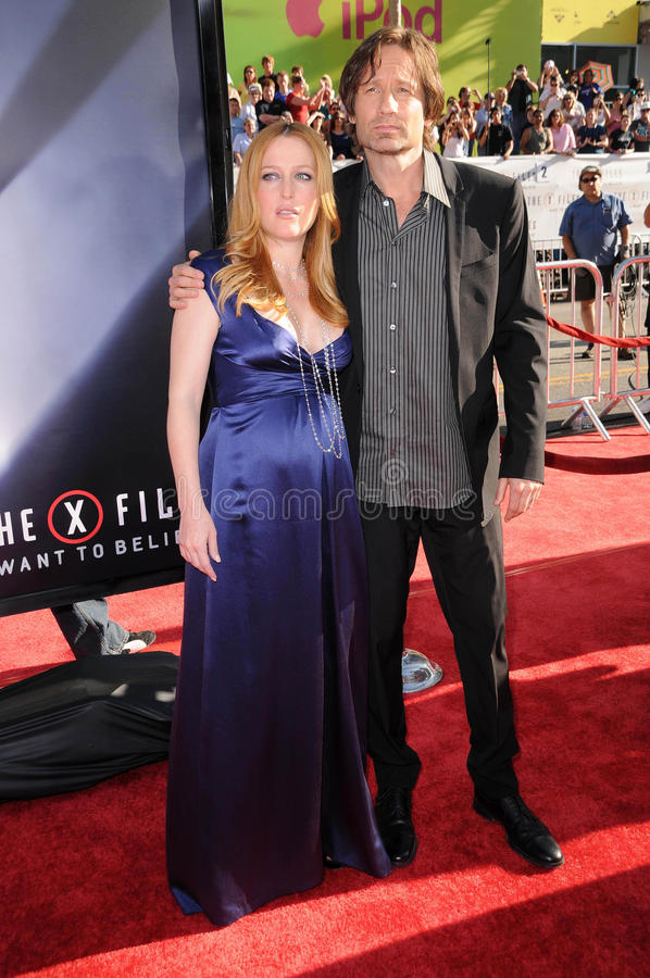 David Duchovny,Gillian Anderson royalty free stock images
