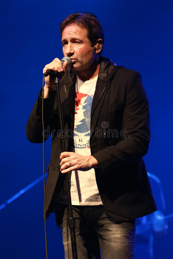 David Duchovny. Performs in concert at the Paramount on February 23, 2017 in Huntington, New York royalty free stock images