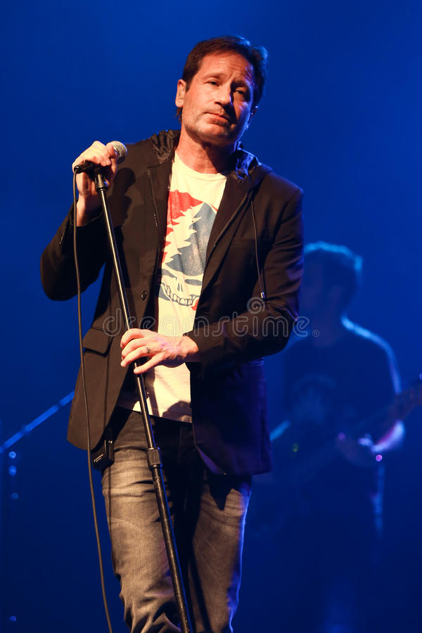 David Duchovny. Performs in concert at the Paramount on February 23, 2017 in Huntington, New York royalty free stock photos
