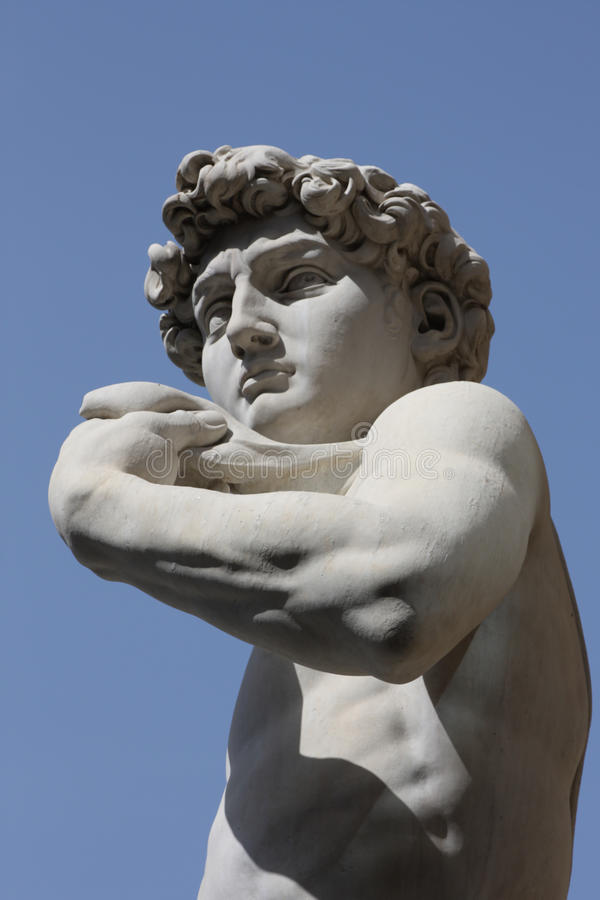 David durch Michelangelo in Florenz, Italien stockfotos