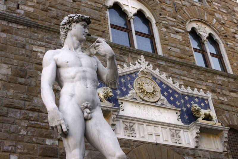 David durch Michelangelo. Sculture in Firenze lizenzfreies stockbild