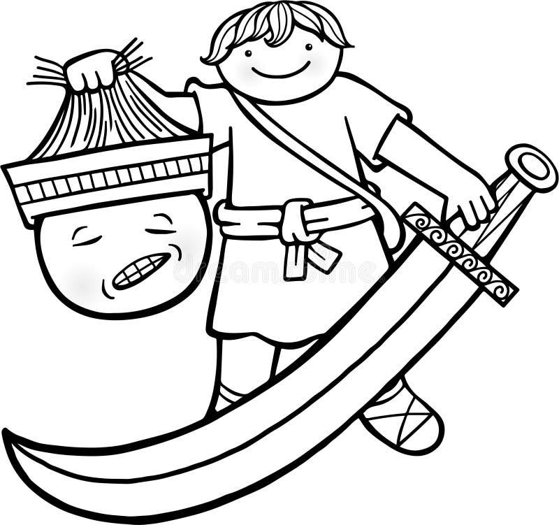 David en Kolos vector illustratie