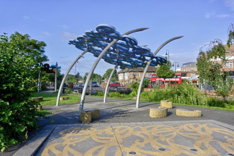 David Evans Pavilion and Water Hater Waterside Gardens Crayford Kent United Kingdom酒店 图库摄影