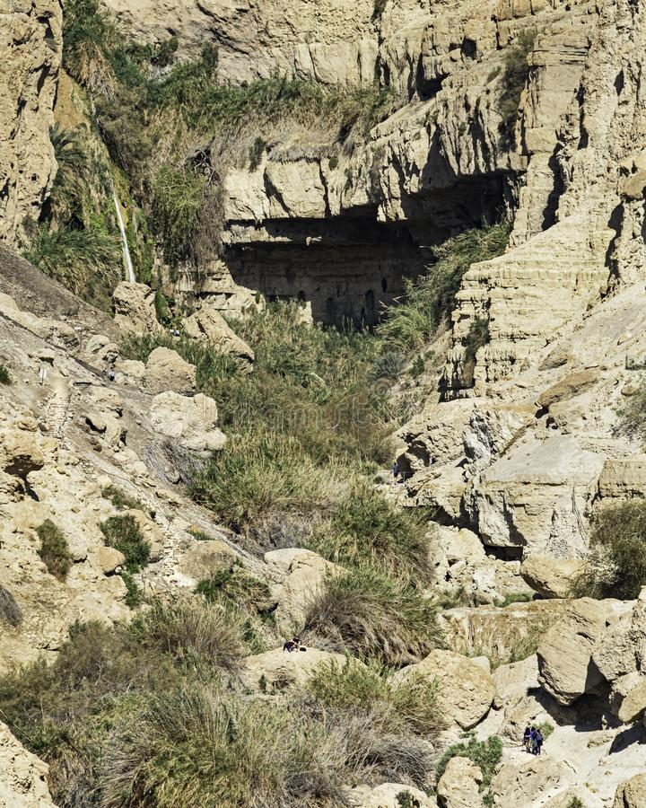 David Falls no parque nacional de Ein Gedi em Israel foto de stock royalty free
