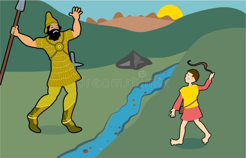 david Goliata royalty ilustracja