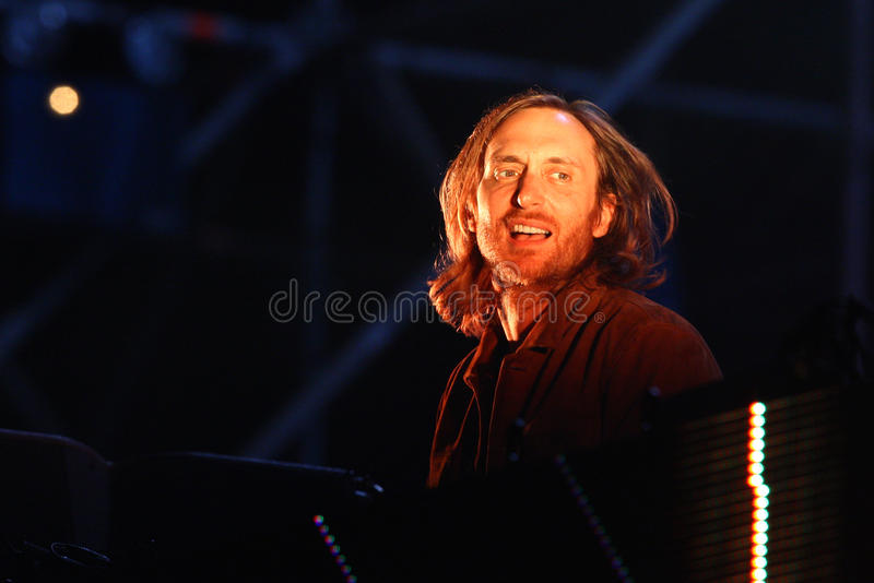 David Guetta do DJ francês fotografia de stock royalty free