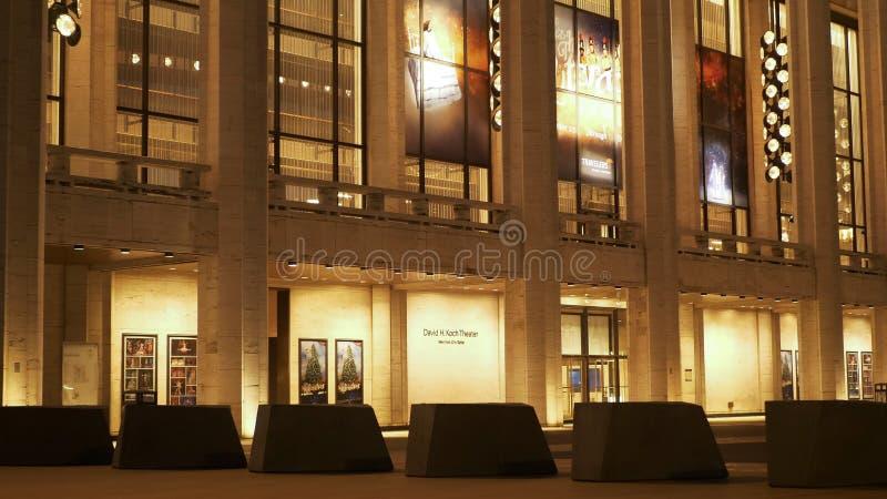 David H Koch Theater at Lincoln Center New York - NEW YORK, USA royalty free stock photo