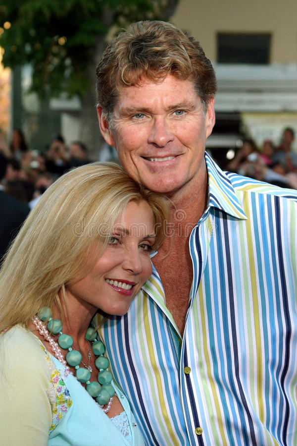 David Hasselhoff e Pamela Bach fotografie stock libere da diritti