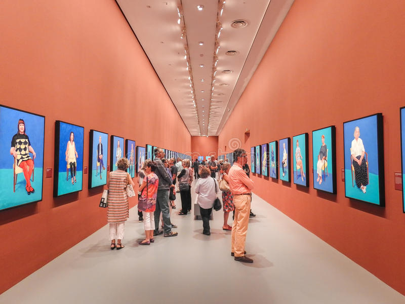 David Hockney exhibition royalty free stock image