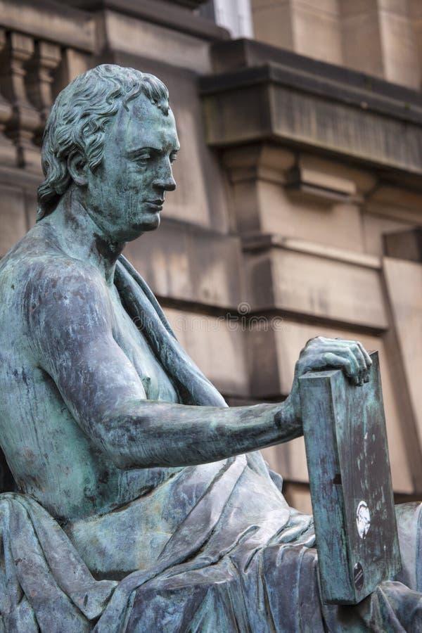 David Hume Statue en Edimburgo fotografía de archivo