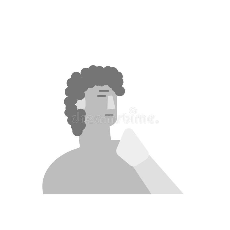 David ikony wektoru znak i symbol odizolowywający na białym tle royalty ilustracja