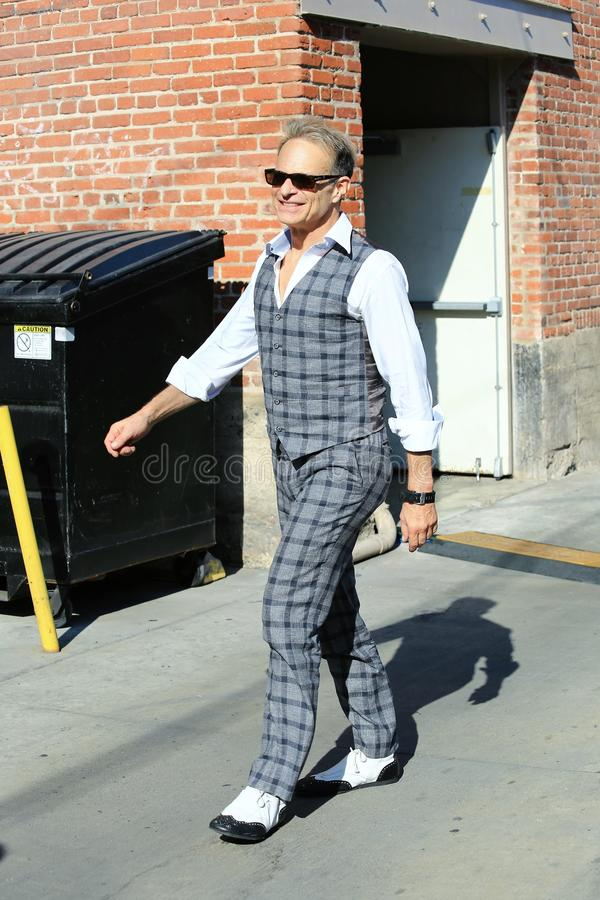 David Lee Roth. Spotted in Hollywood stock image
