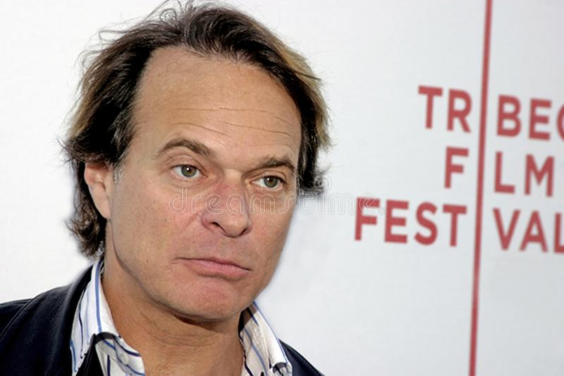 David Lee Roth. Hard rocker David Lee Roth arrives at the 3rd Annual Tribeca Film Festival in lower Manhattan on May 6, 2004 royalty free stock image
