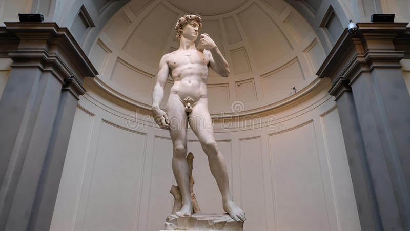 david michelangelo arkivbilder