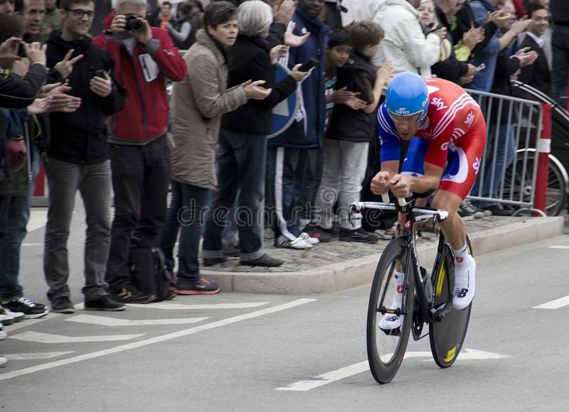 David Millar in actie tijdens de UCI Wereld Champi royalty-vrije stock foto's