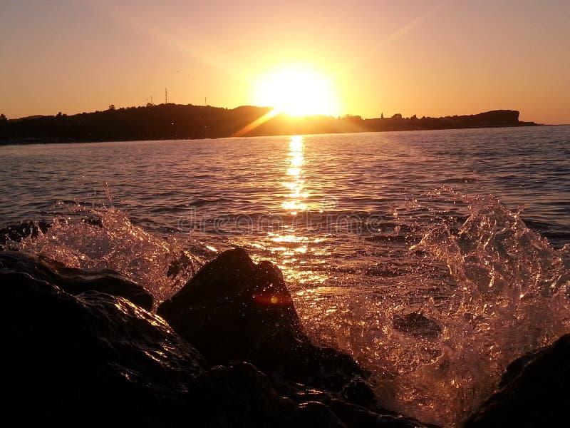 David Morris--camera, landscape, ocean, sunset stock photography