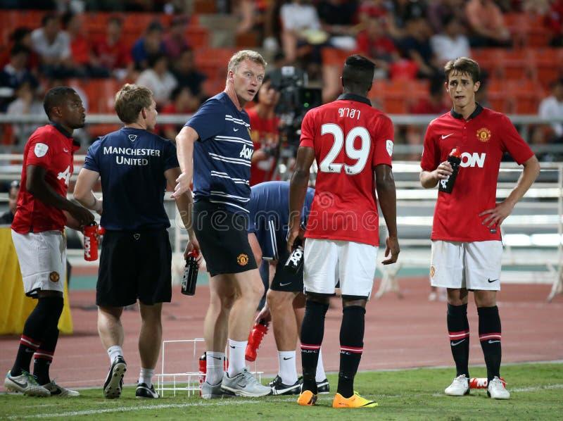David Moyes head coach of Man Utd. stock photography