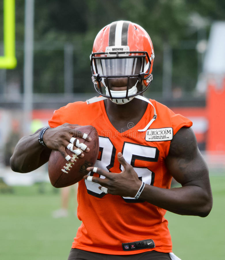 David Njoku Rookie NFL Cleveland Browns 2017 imagen de archivo