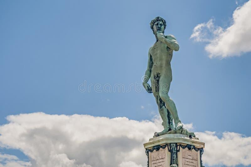 David in Piazzale Michelangelo in Florence, Italië stock foto's