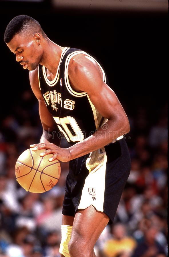 David Robinson. David Robison, Center for the San Antonio Spurs. Image taken from color slide royalty free stock photography