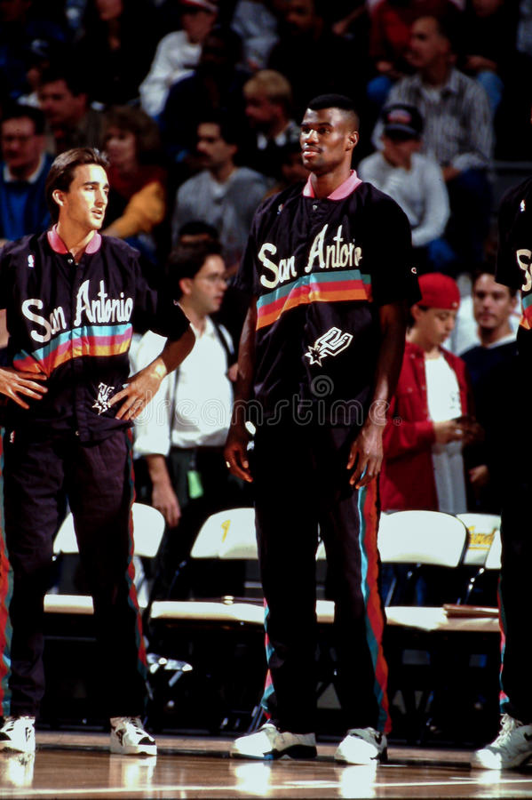 David Robinson et Vinny Del Negro, San Antonio Spurs photos libres de droits