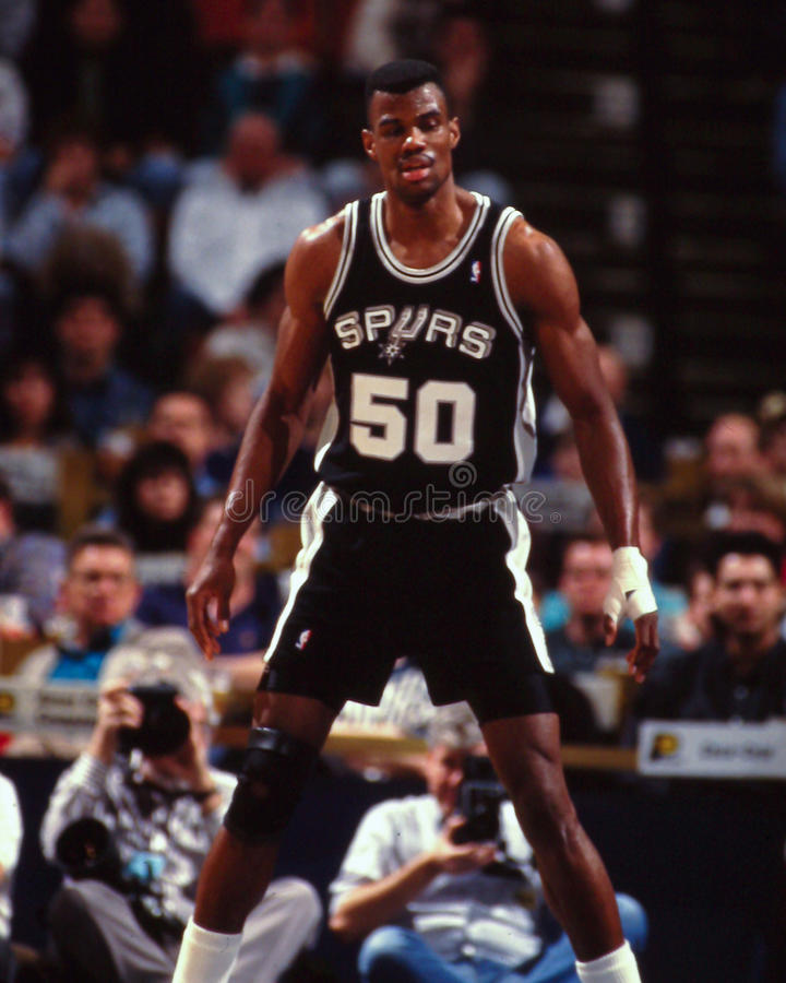 David Robinson, San Antonio Spurs images stock