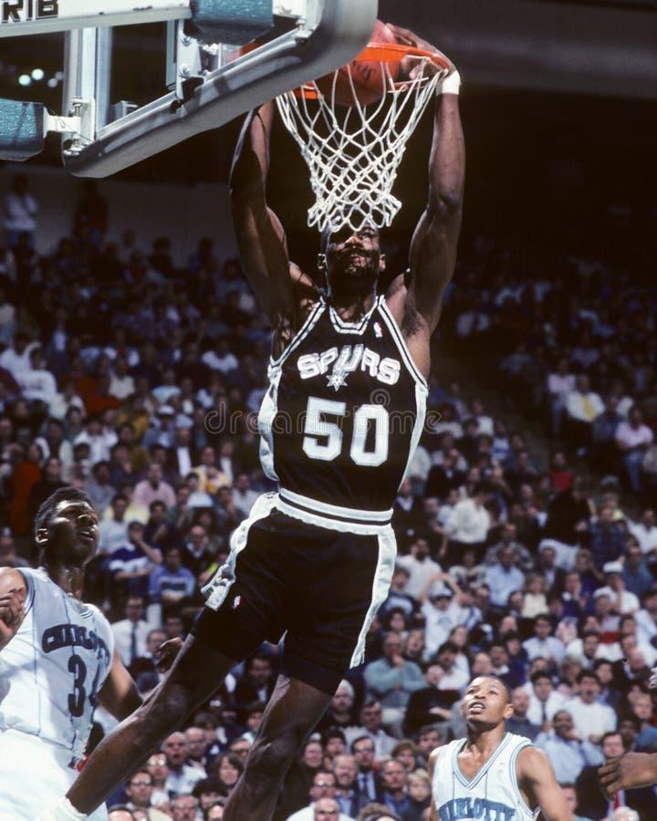 David Robinson, San Antonio Spurs immagini stock libere da diritti