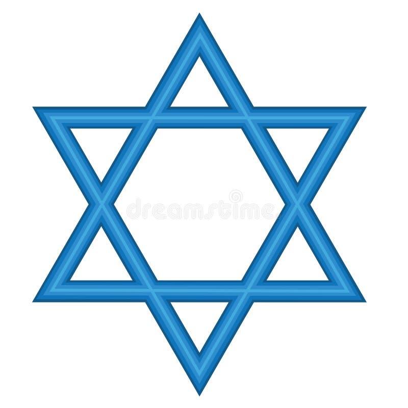 David's Star. Symbolic Blue David's Star Representation stock illustration