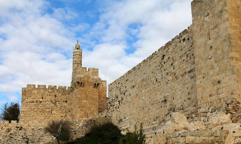David's tower (citadel). The old city of Jerusalem (Israel stock images