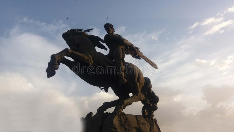 David of Sasun statue royalty free stock image