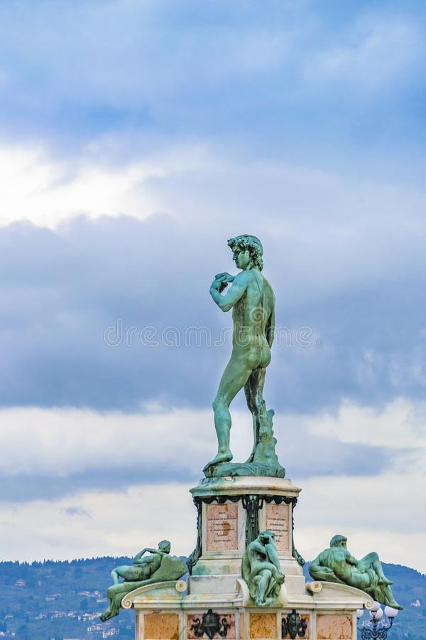 David Sculpture, Michaelangelo Piazza, Florence, Italy. David sculpture at michaelangelo piazza in florence city, Italy royalty free stock image