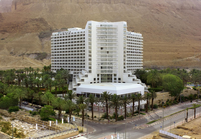 David Spa Hotel in Ein Bokek, Dead Sea, Israel stock photos
