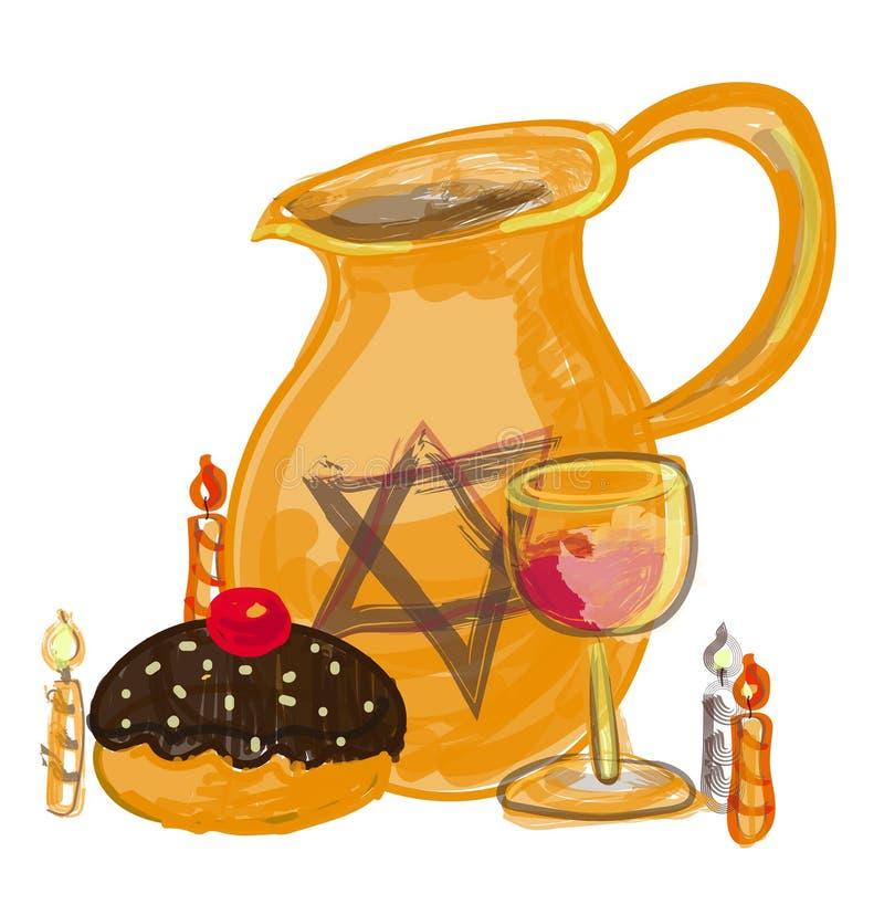 David star on oil jar vector illustratie