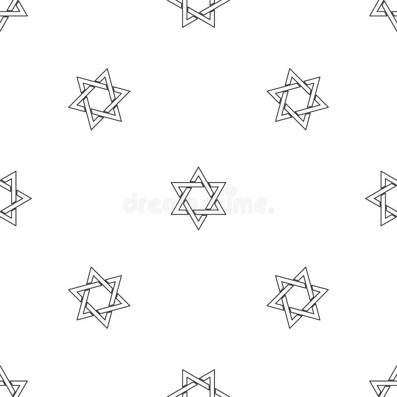 David star pattern seamless vector vector illustration