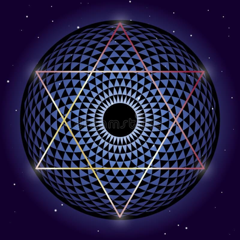 David Star und Torus heilige Geometrieelemente Yantra lizenzfreie abbildung