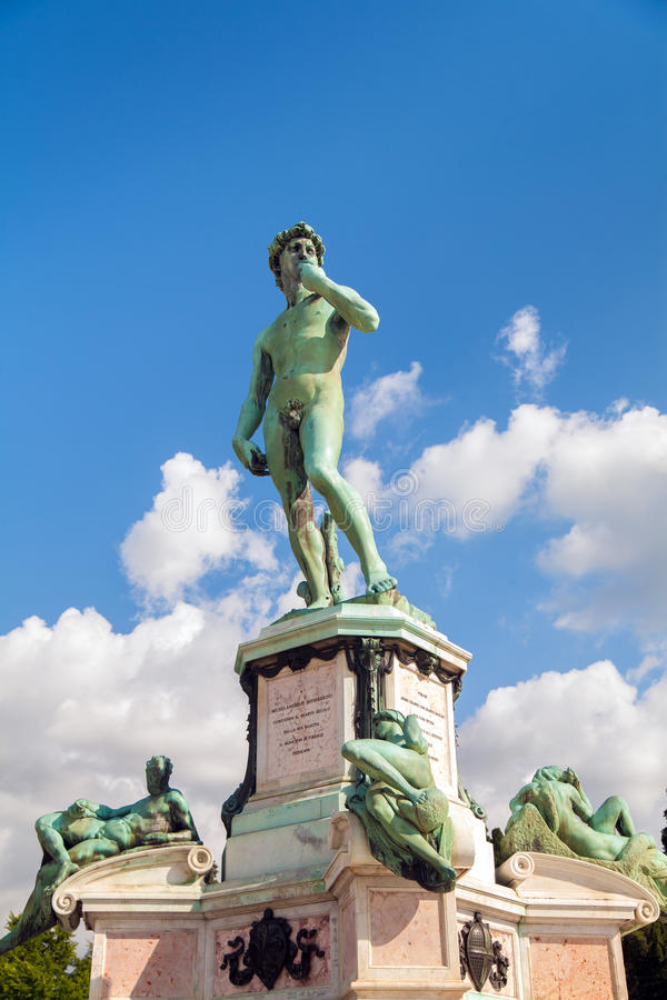 David Statue in Piazzale Michelangelo in Florence, Italië royalty-vrije stock foto